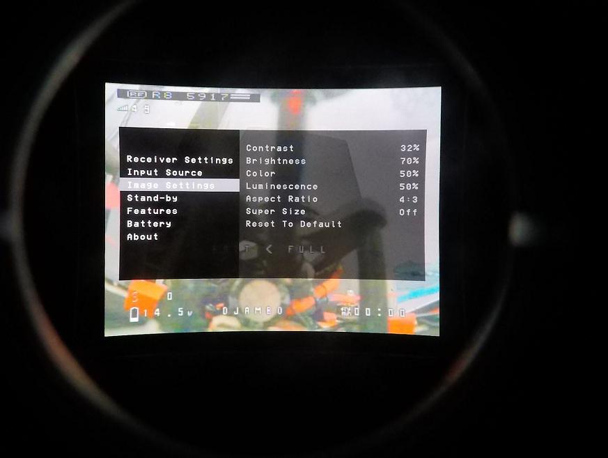 menu input source fpv one